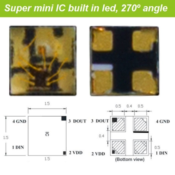 Super Mini SMD1515 Digital RGB LED