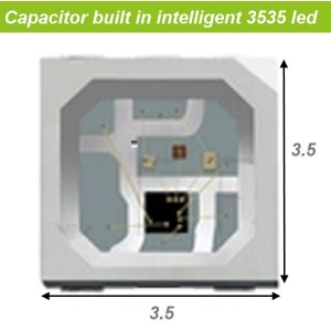 Capacitor&IC embedded in mini SMD3535 RGB LED