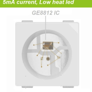 Low heat 5mA programmable led